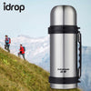 idrop Portable Travel Outdoor sports Stainless Steel Vacuum Thermos Bottle - 1000ML & 750ML VACUUM FLASK WITH HANDLE
