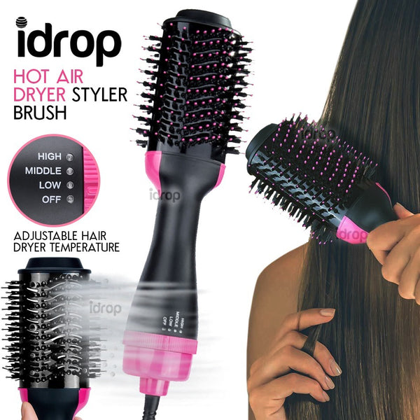 idrop 2 IN 1 Hot Air Hair Dryer & Hair Styler Straightener Curler Brush