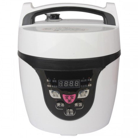 2L Mini Electric Pressure Cooker - (Black/White)