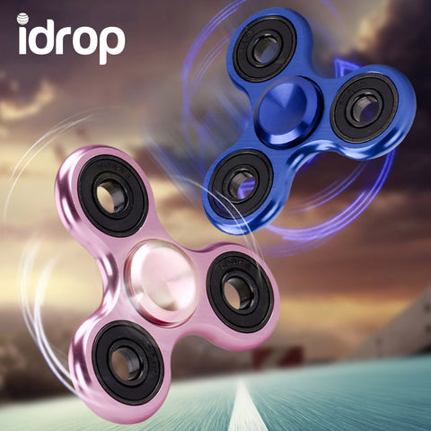idrop Hand Spinner Fidget Tri-Spinner For Kids / Adults (stainless steel)