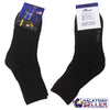 idrop BEST - Black School Standard Cotton Socks for Kids Children [ 1 Pair / 12 Pairs ] [ Size 19-26 / S-L ]