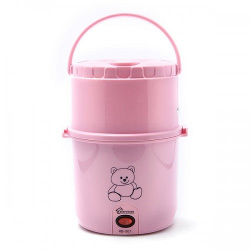 2 Layer Electric Lunch Box - Pink