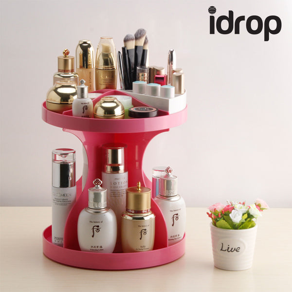 idrop 360 Degree Rotation Makeup Organizer Cosmetic  box storage