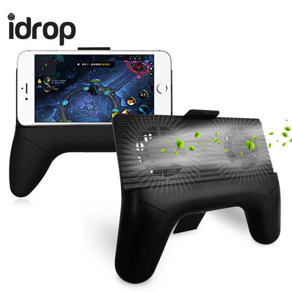 idrop 3 in 1 Phone Radiator Mobile Phone Cooling Fan Holder Stand Game Controller