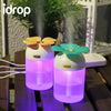 idrop LJH-004 Lucky Clover Colourful Light Ultrasonic USB Humidifiers Air Purifier Freshener Aroma Steam Diffuser 200ml [Randomly Send]