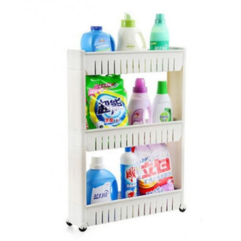 Movable 3 Layer Multifunction Storage Rack - 3 Layer Storage Rack
