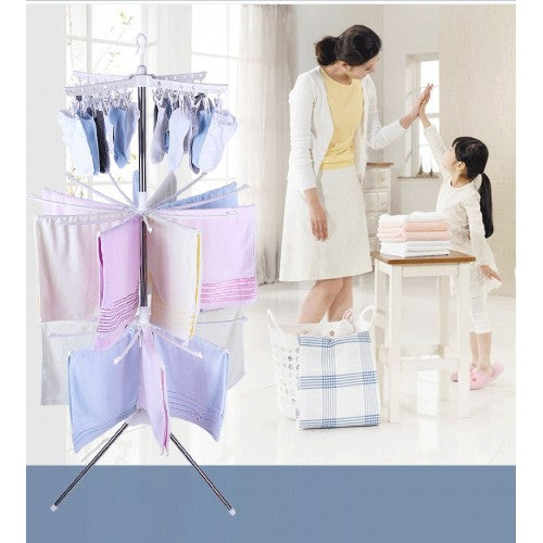 3 Tiers Foldable Cloth Hanger And Drying Racks For Outdoor & Indoor