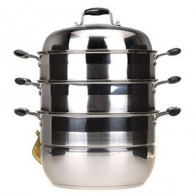 3 Tier Steamer Steam Pot Cookware-32cm