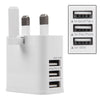 3 USB Ports Travel Wall Charger Adapter 3 Pin plug