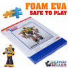 idrop 110 Pcs 3D Educational Puzzle Paper Craft Foam EVA Transformers Bumblebee Toy Set [ 566-C ]