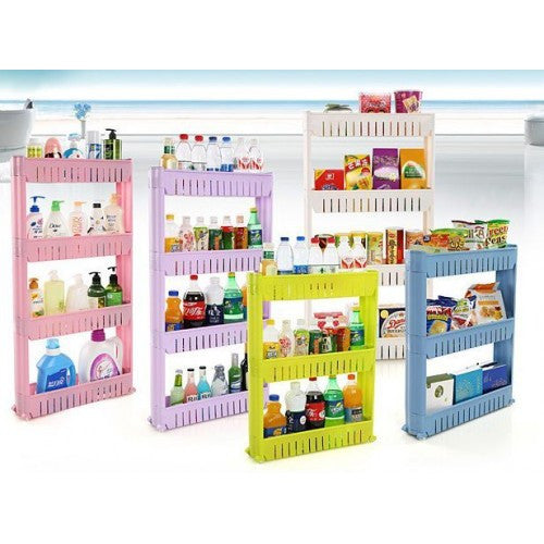 Movable 4 Layer Multifunction Storage Rack