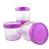 4 Pcs Plastic Storage Container Set - Purple
