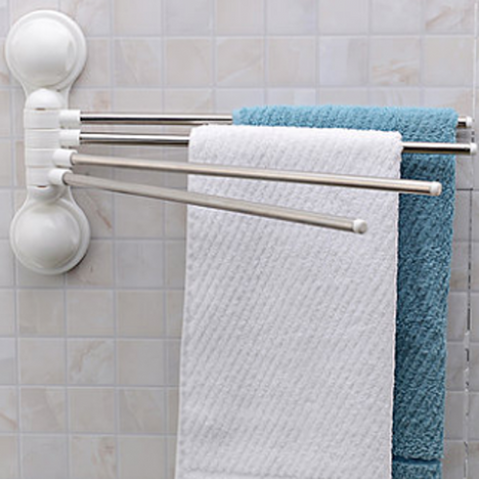 4 Bar Towel Rack With Suction Cup