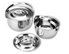 5-Pieces Set Multipurpose Stock Stainless Steel Pot With Handle