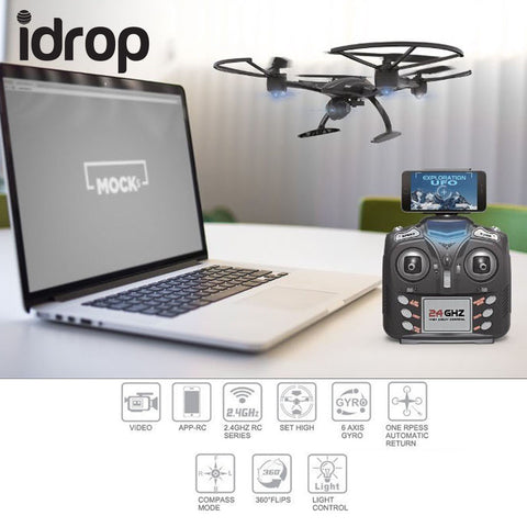 idrop 507W UFO RC Drone with WIFI Camera 2.4G  Remote Control Dron Quadrocopter Professional FPV Drones support Real-Time Video