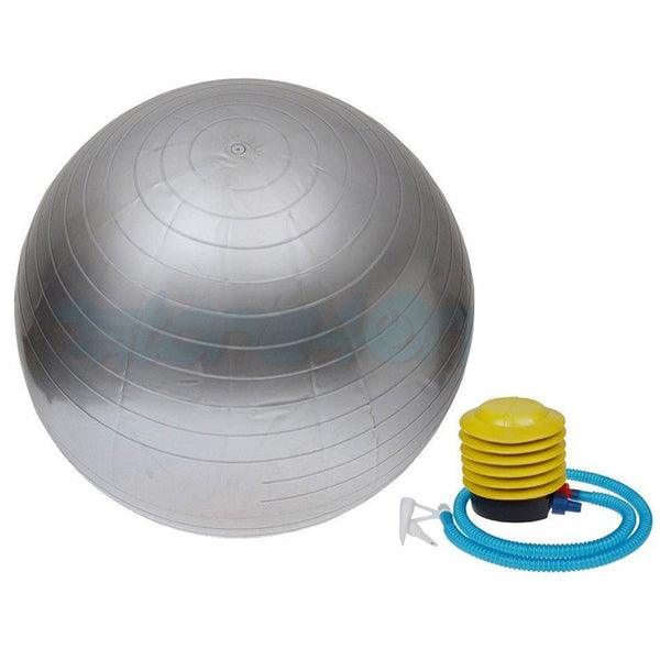 55cm Exercise Yoga Ball Free Pump-Silver