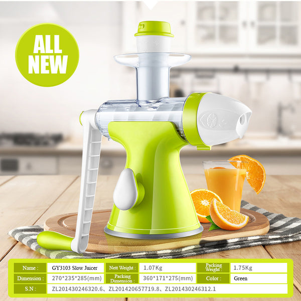 (IMPORT) 2 In 1 Slow Juicer & Ice Cream Maker