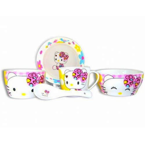 5pcs Cute Cartoon Bowl - Hello Kitty