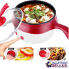 idrop 1.8L 2 Layer Multipurpose Stainless Steel Electric Nonstick Steamer Pot Cooker