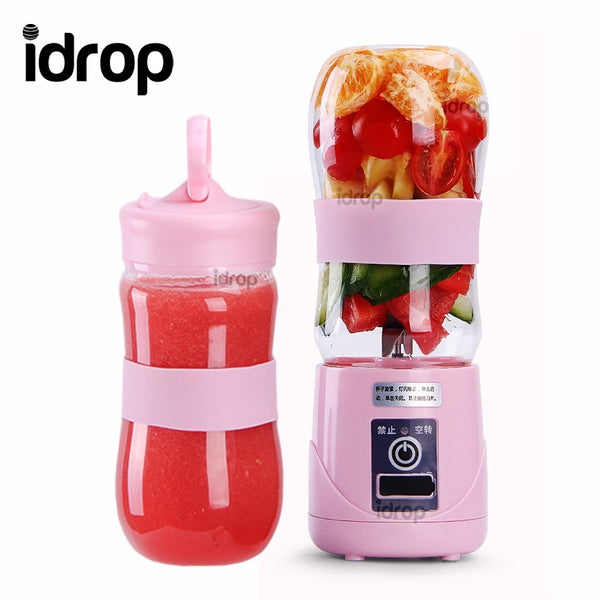 idrop 400ml Fruit & Vegetable Juicer - Mini Compact Portable Electric Juice Blender