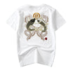 idrop TOLLO - Double Dragon & Koi Carp Embroidered Sukajan T-Shirt Japanese Street Fashion