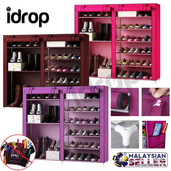 idrop Fashion Portable 9 Tier with 2-Column Shoe Rack