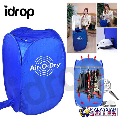 idrop Air-O-Dry Clothes Dryer Compact Portable Easy light Dryer with Heater and Accessories