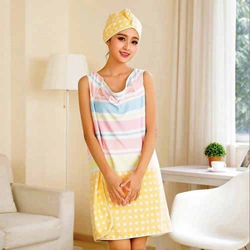 Bath Skirt With Bath Cap Towel
