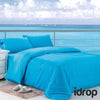 idrop NAVYDALY Fitted Bed sheet King Set  (Fitted bed sheet , Bolster, Pillowcases )