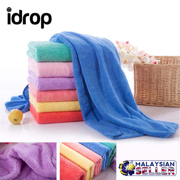idrop Set of 2 Microfiber Quick Dry Adults Super Soft Absorbent Bath Towel