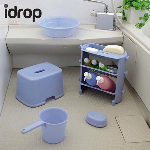 idrop 3 Layer Multi-function Bathroom Shelf Unit
