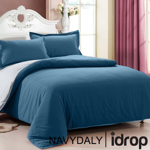 NAVYDALY Fitted Bed sheet Queen Set  (Fitted bed sheet , Bolster, Pillowcases )