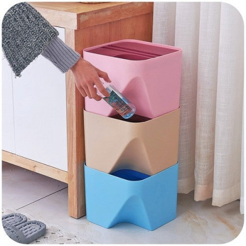 Colorful Stackable Waste Basket