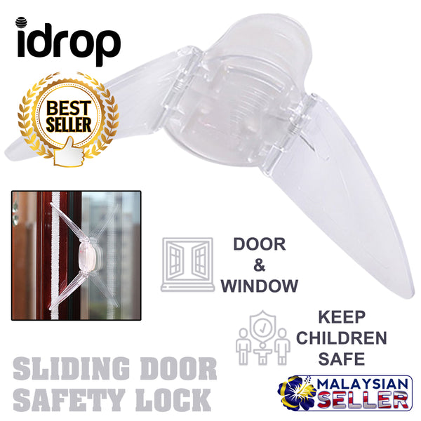 idrop Multipurpose Sliding Door and Window Child Baby Safety Lock