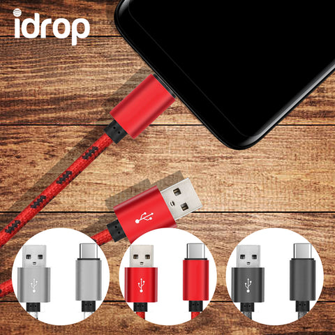 idrop Cable Charging Data Transfer 1 Meter Nylon Braided TYPE-C to USB Charging Cable