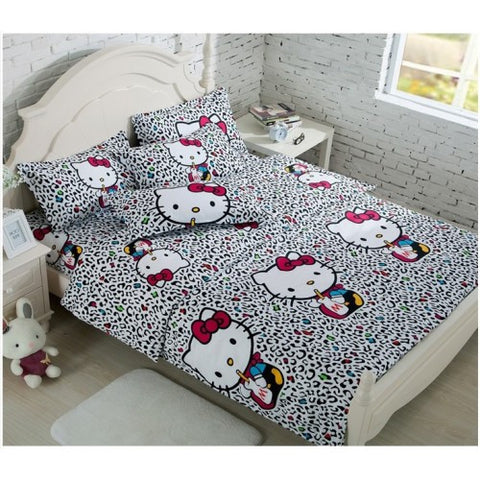 Cartoon-Themed Bed Sheet and Quilt Set