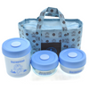 Cartoon Insulation Stainless Steel Container Liner Lunch BENTO 3 Pcs Set