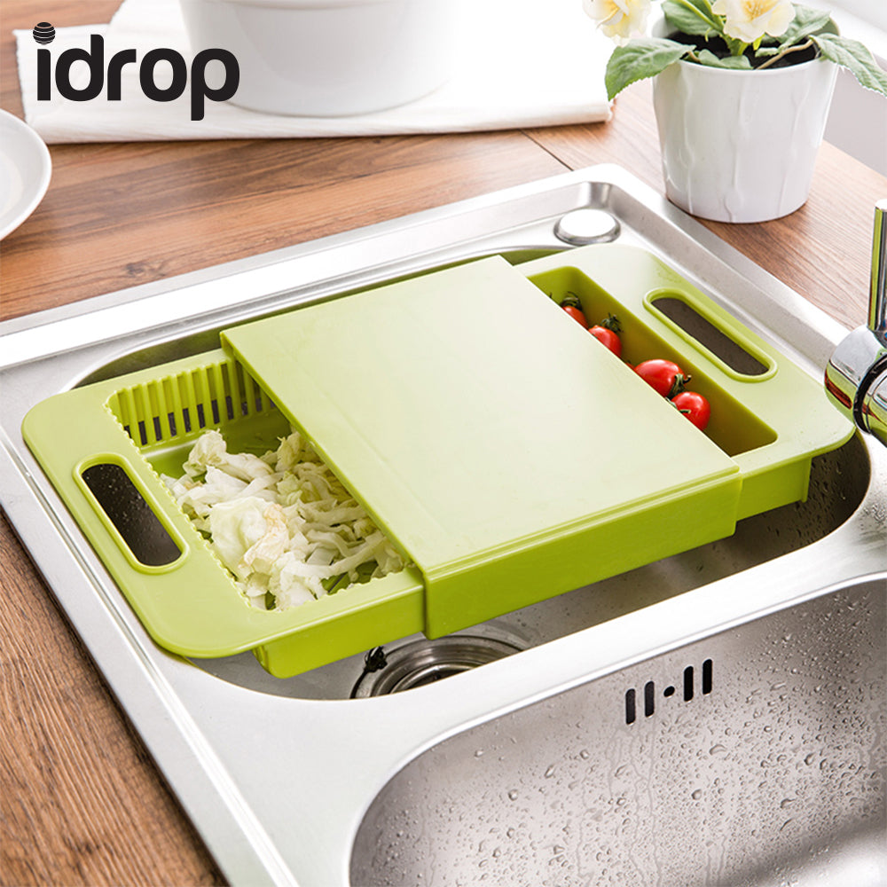 Idrop Multifunctional Kitchen Tool Chopping Board With