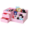 Wooden Drawer Style Makeup Cosmetics Storage Box Case