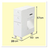 Cosmetic Jewelry Cabinet With Mirror Drawers Tissue Box Wardrobe Dressing Table