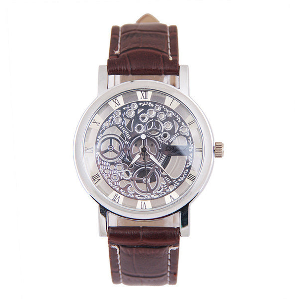 DGJUD ZL205 Hollow Leather Belt Quartz Watch