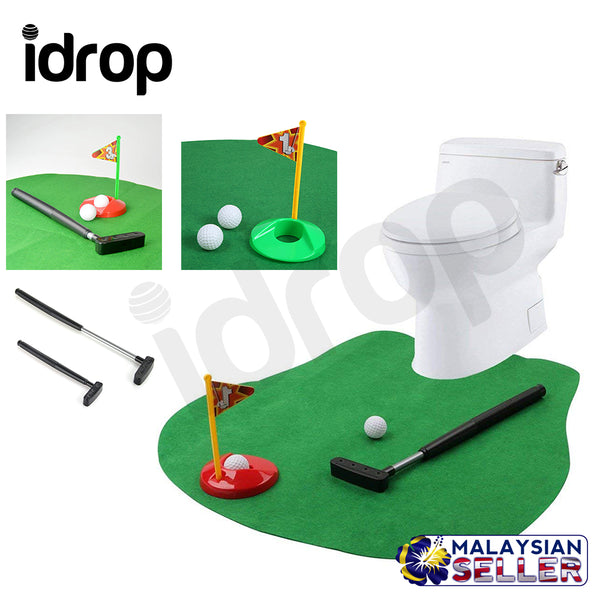Idrop Toilet Golf Potty Putter Toilet Putting Mat Golf Game For