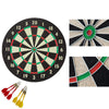 idrop Good Quality 16 inch Double-Sided Dart Board Game Set with Six Included Brass Darts