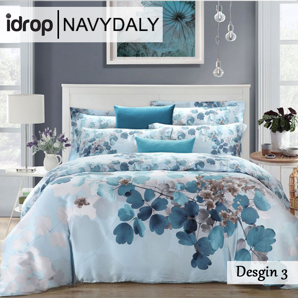 ... NAVYDALY Fashion Design Bedding King Size Tencel Bed Sheet With Quilt  Cover ...