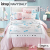 NAVYDALY Fashion design bedding queen size tencel bed sheet with quilt cover