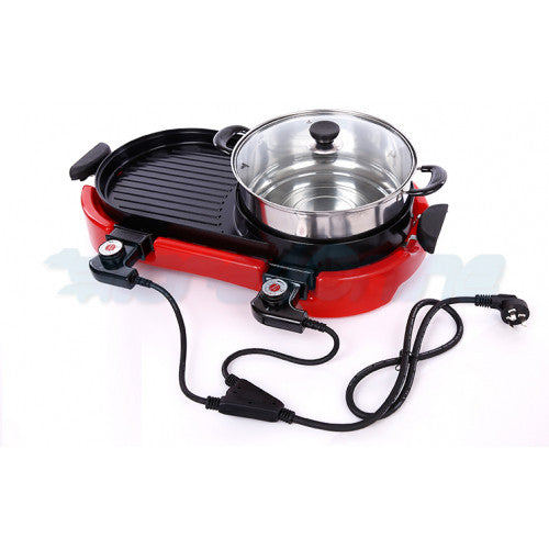 Double-Controlled Multifunctional Electric BBQ Grill