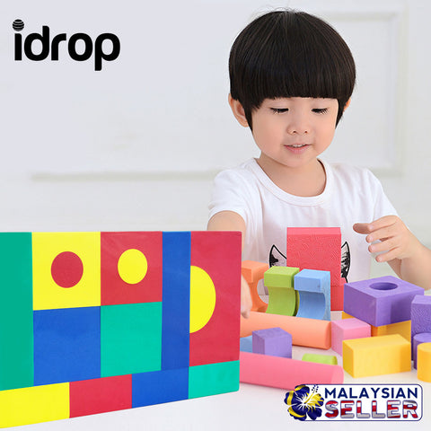 idrop EVA Foam Building Blocks 15pcs with Random Shape For Children Education