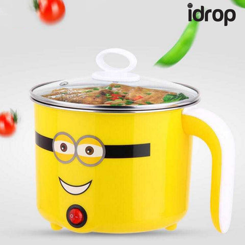 idrop 1.3L Multifunction Portable Cartoon Electric Pot Mini Cooker for Travel Hostel Household