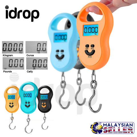 idrop Digital LCD Mini Hanging Electronic Scale Weight for Fishing Luggage 10g~40kg