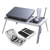 Foldable & Portable E-Table with 2 Cooling Fans